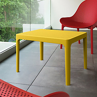 "Siesta 24"" Outdoor Sky Side Table, Yellow, rollover"