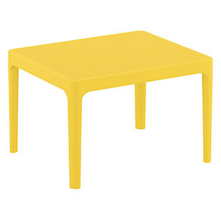 "Siesta 24"" Outdoor Sky Side Table, Yellow, large"