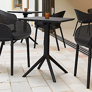 "Siesta Outdoor Sky Square Folding Table 24"" Black, , rollover"