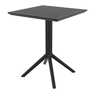 "Siesta Outdoor Sky Square Folding Table 24"" Black, , large"