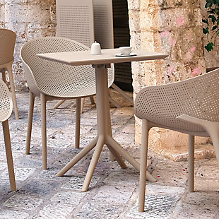 """Siesta 24"""" Outdoor Sky Square Folding Table, , rollover"""