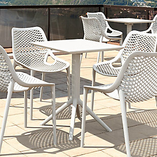"Siesta Outdoor Sky Square Folding Table 24"" White, White, rollover"