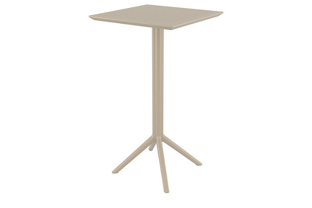 "Siesta 24"" Outdoor Sky Square Folding Bar Table, , large"