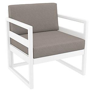 Siesta Outdoor Mykonos Patio Club Chair with Sunbrella Cushion, , large