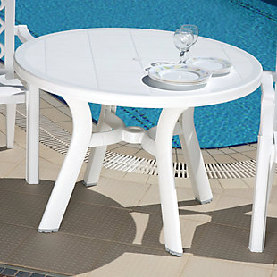 "Siesta 42"" Outdoor Truva Resin Round Dining Table, , rollover"