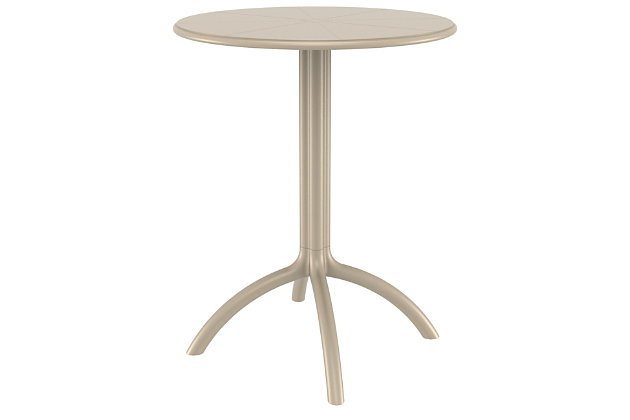 Siesta Outdoor Octopus Round Bistro Table, Taupe, large
