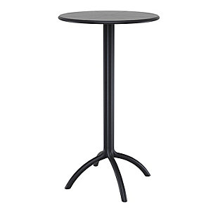 Siesta Outdoor Octopus Round Bar Table, Black, large