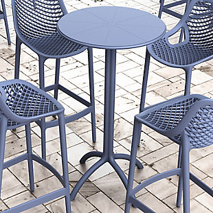 Siesta Outdoor Octopus Round Bar Table, , rollover