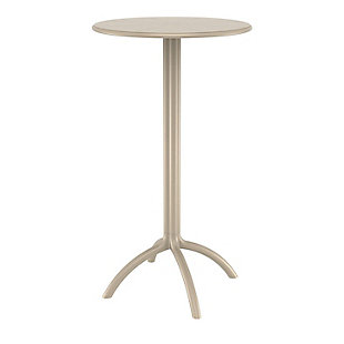 Siesta Outdoor Octopus Round Bar Table, Taupe, large