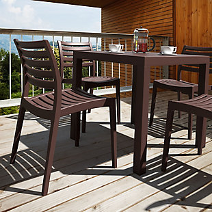Siesta Outdoor Ares Resin Square Dining Table, , rollover