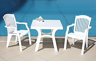 "Siesta 31"" Outdoor Viva Resin Square Dining Table, , rollover"