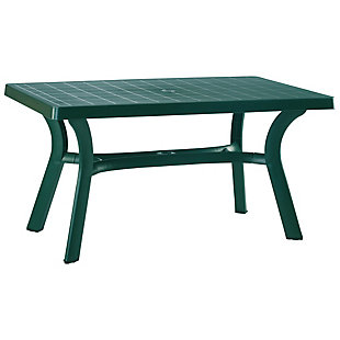 "Siesta 55"" Outdoor Sunrise Resin Rectangle Table, , large"