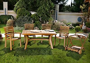 "Siesta 55"" Outdoor Sunrise Resin Rectangle Table, , rollover"