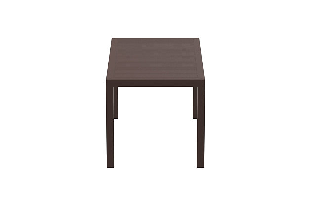 Siesta Outdoor Ares Resin Rectangle Dining Table, , large