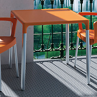 Siesta Outdoor Mango Alu Square Table, Orange, rollover
