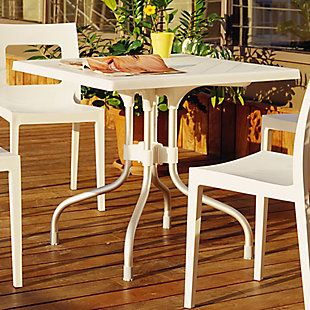 Siesta Outdoor Forza Square Folding Table, Beige, rollover