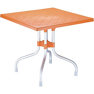 Siesta Outdoor Forza Square Folding Table, Orange, large