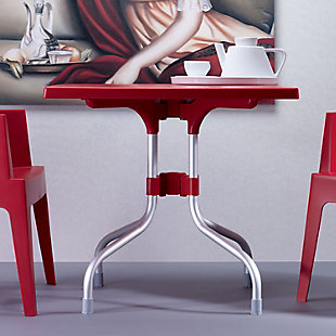 Siesta Outdoor Forza Square Folding Table, Red, rollover