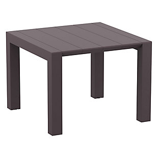 Siesta Outdoor Vegas Dining Extendable Table, Brown, large