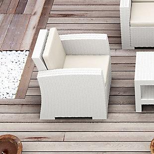 Siesta Outdoor Monaco Resin Patio Club Chair with Sunbrella Cushion, , rollover