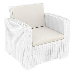 Siesta Outdoor Monaco Resin Patio Club Chair with Sunbrella Cushion, , large