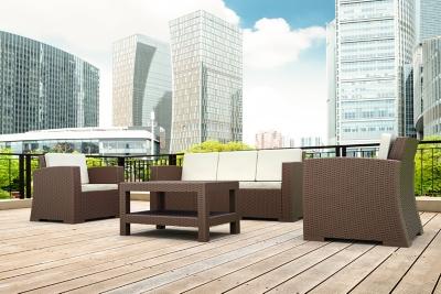 Siesta Outdoor Monaco Rectangle Patio Coffee Table, Brown, large