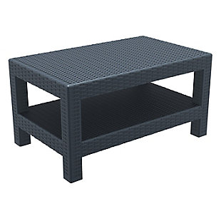 Siesta Outdoor Monaco Rectangle Patio Coffee Table, , large