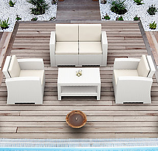 Siesta Outdoor Monaco Rectangle Patio Coffee Table, , rollover
