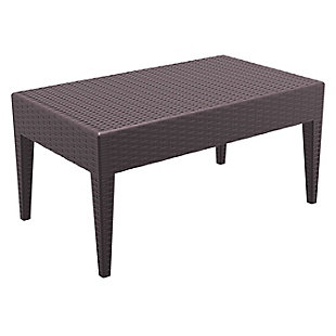 Siesta Outdoor Miami Rectangle Resin Coffee Table, , large