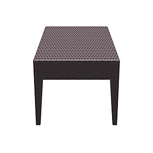Siesta Outdoor Miami Rectangle Resin Coffee Table, Brown, large