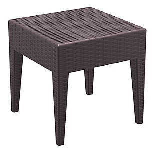 Siesta Outdoor Miami Square Resin Side Table, , large