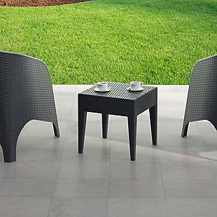 Siesta Outdoor Miami Square Resin Side Table, , rollover