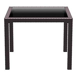 Siesta Outdoor Miami Resin Wickerlook Square Dining Table, , large