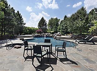 Siesta Outdoor Orlando Resin Wickerlook Square Dining Table, , rollover