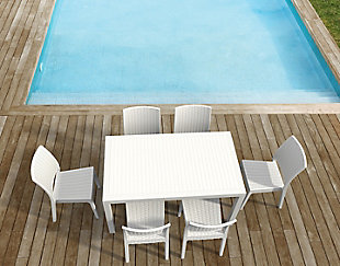 Siesta Outdoor Orlando Wickerlook Rectangle Dining Table, , rollover