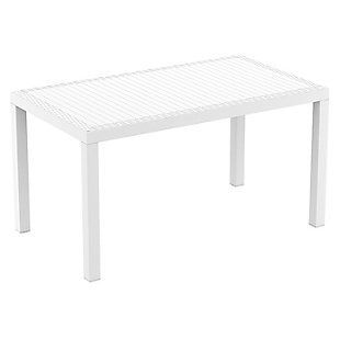 Siesta Outdoor Orlando Wickerlook Rectangle Dining Table, , large