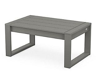 Edge Coffee Table, Slate Gray, large