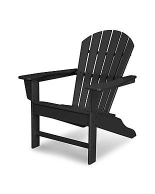 South Beach Adirondack Chair, Black, large