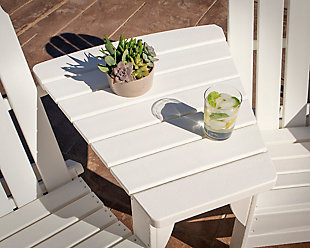 Classic Series Angled Adirondack Connecting Table, White, rollover