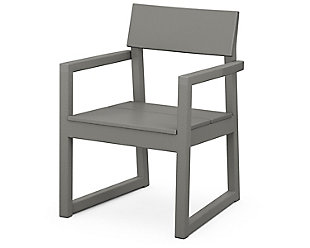Edge Dining Arm Chair, Slate Gray, large