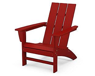 Modern Adirondack Chair, Crimson Red, large