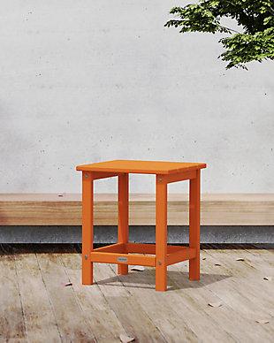 "Long Island 18"" Side Table, Tangerine, rollover"