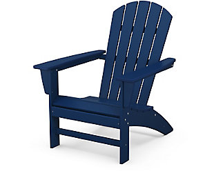 Nautical Adirondack Chair, Navy, rollover