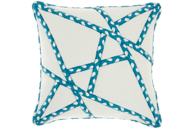 """Mina Victory Outdoor Pillow 18""""x18"""", , large"""