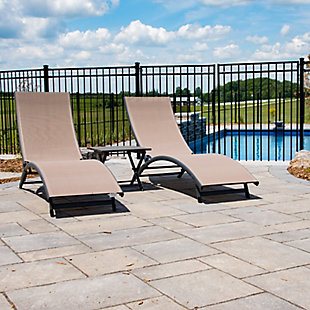 Coral Springs 3-Piece Outdoor Aluminum Lounger Set Macchiato, , rollover