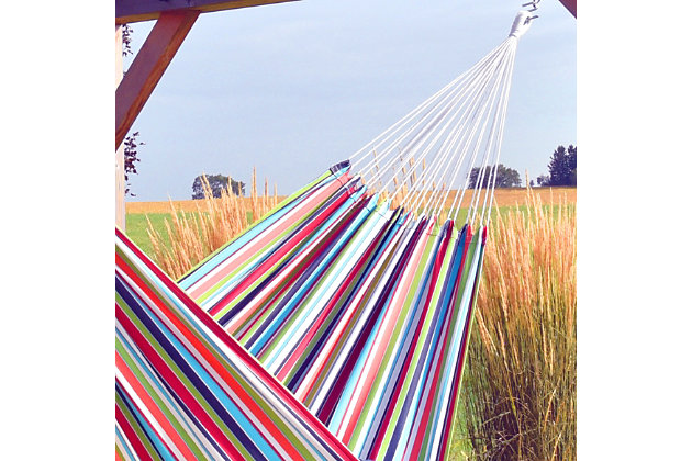 Vivere Outdoor Double Brazilian Polyester Hammock Ciao, Ciao, large