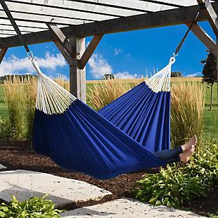 Vivere Outdoor Double Brazilian Polyester Hammock Royal Blue, , rollover