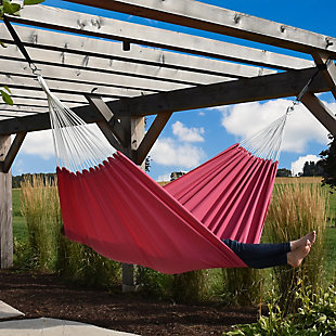 Vivere Outdoor Double Brazilian Polyester Hammock Hot Pink, Hot Pink, rollover