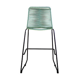 """Shasta 30"""" and 26"""" Outdoor Metal and Rope Stackable Barstool, Wasabi, large"""