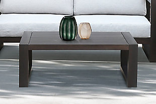 Paradise Outdoor Dark Eucalyptus Wood Coffee Table, Dark Brown, rollover